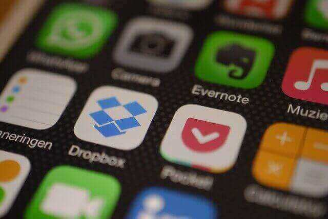 Dropbox op iPhone