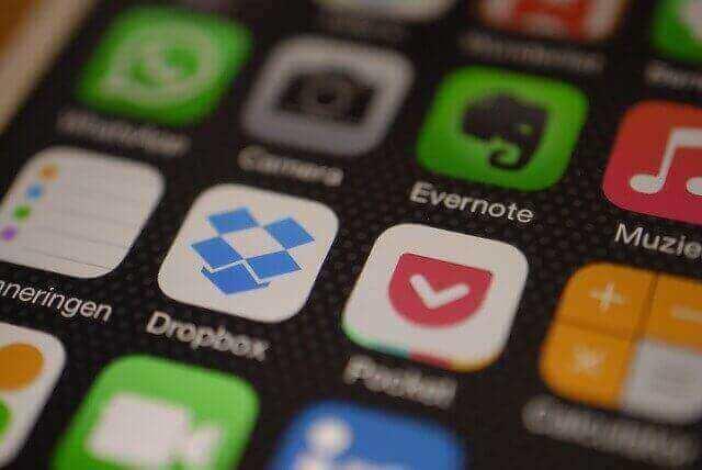 Dropbox op iPhone